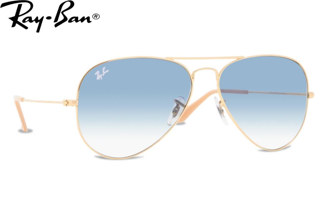 blue aviator ray bans  shape: aviator