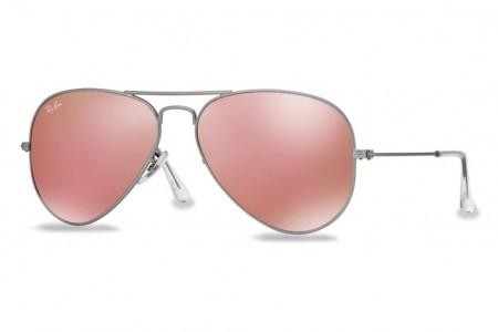 Ray Ban Aviator 3025 1124T Pink Mirror Matte Gold