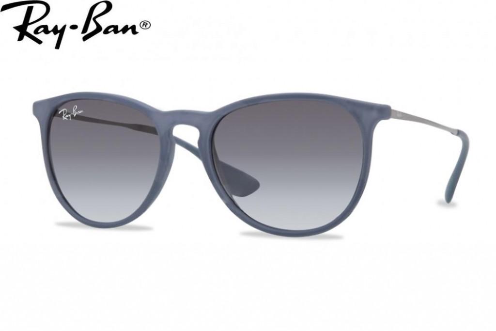 lunettes de soleil ray ban erika rb 4171 60028g 54mm rubber blue gwe. Black Bedroom Furniture Sets. Home Design Ideas