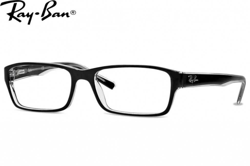 Lunettes de vue Ray ban RX 5169-2034 52mm TOP BLACK ON TRANSPARENT - G 76a4fc85ba0e