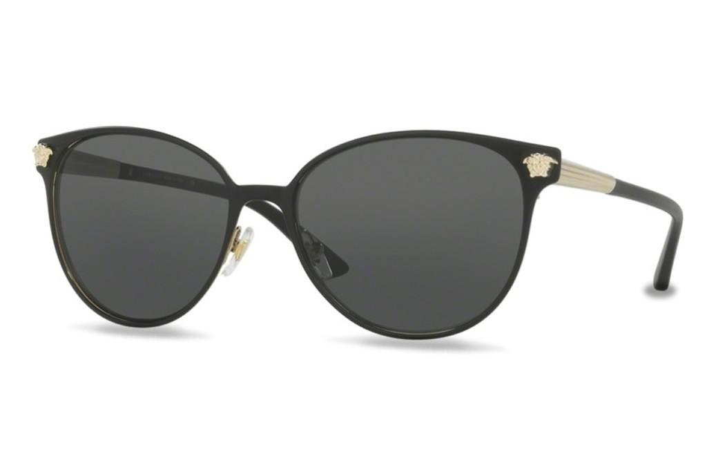 lunettes de soleil versace ve2168 137787 57mm matte black pale gold. Black Bedroom Furniture Sets. Home Design Ideas