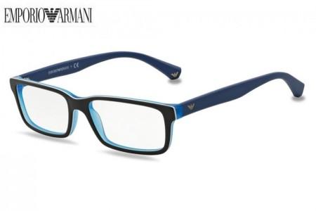 d858234c719181 Lunettes de vue Emporio Armani EA 3061-5392 53mm Top Black Matte Blue