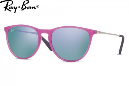 f9461db318 Lunettes de soleil Ray Ban Junior RJ 9060-70084V 50mm Violet Fluo Tran
