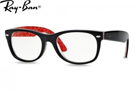 Lunettes de vue Ray Ban New Wayfarer RX 5184-2479 52mm Top black on te 6bafe0fe4853
