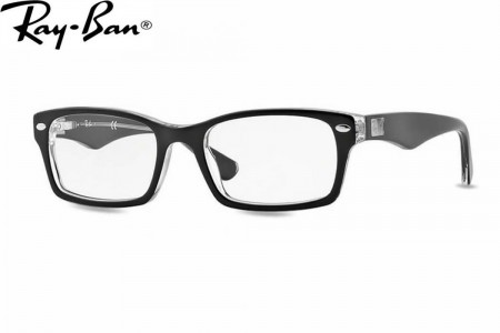 a8d974b63d6e6 Lunettes de vue Ray ban RX 5206 Large-2034 54mm Top black on transpare