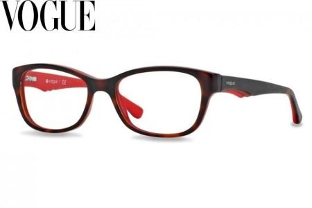 664dcf7044a648 Lunettes de vue Vogue VO 2814-2105 51mm Top Dark Havana Red - Gweleo