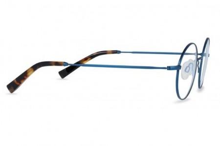 Lunettes de vue Alistair 45mm BTT17 Brushed Blue Titanium - vue de profil