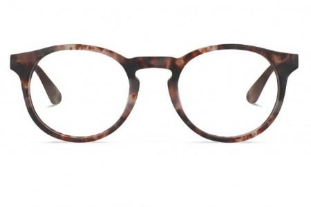 Lunettes de vue Battatura Angelo 50mm B289 Matte Brown Tortoise - vue de face