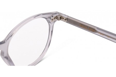 Lunettes de vue French Rétro Ariston 46mm Cristal Gris - détail charnière