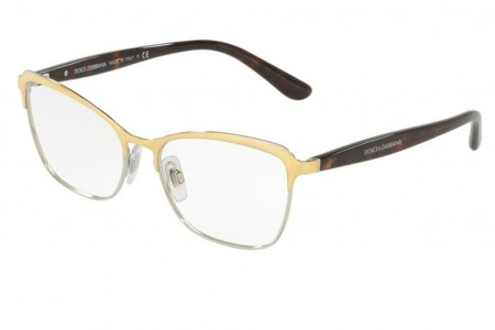 Lunettes de vue Dolce Gabbana DG 1286-02 53mm Gold Silver - Gweleo 644c7640302b