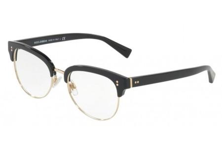 Lunettes de vue Dolce Gabbana DG 3270-501 52mm Black Gold - Gweleo 21bd2e83164d