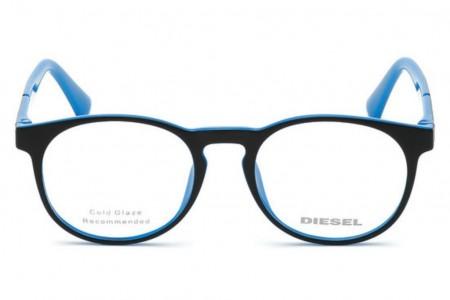 Lunettes de vue Diesel DL5301 005 - Noir/Bleu - vue de face