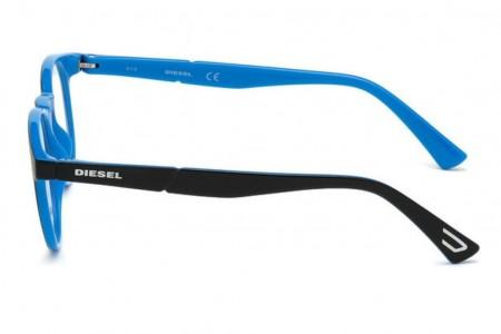 Lunettes de vue Diesel DL5301 005 - Noir/Bleu - vue de profil