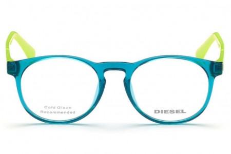Lunettes de vue Diesel DL5301 087 - Turquoise/Vert pomme - vue de face