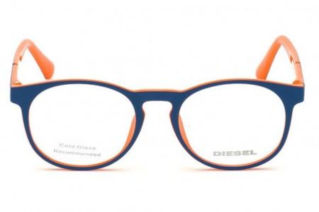 Lunettes de vue Diesel DL5301 092 - Bleu/Orange - vue de face