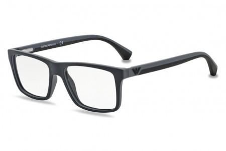 0f73eab7ab Lunettes de vue Emporio Armani EA 3034-5229 53mm Black/Rubber Grey - G