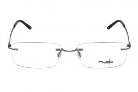 Lunettes de vue Fléo Ivaro - 56mm - Bleu/Gis - vue de face