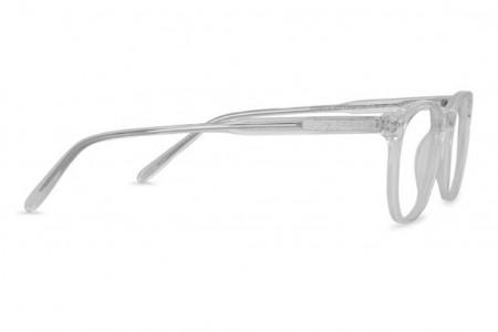 Lunettes de vue Battatura Ottavio 46mm Italian Crystal White - Profil