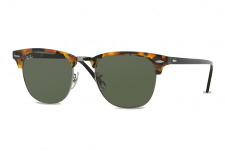 Lunettes de soleil Ray ban Clubmaster RB 3016 L-1157 51mm Spotted blac 6f61c8520e99