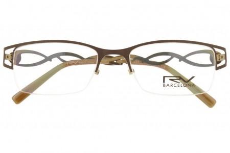 Lunettes de vue h.Mahéo RV284 - 51mm - Marron / Argent - vue de face
