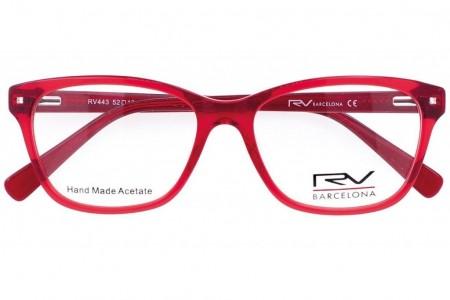 Lunettes de vue h.Mahéo RV443 - 52mm - Rouge/Fleur - vue de face