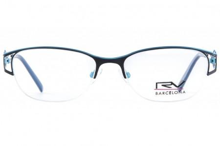 Lunettes de vue h.Mahéo RV516 - 53mm - Turquoise / Noir - vue de face