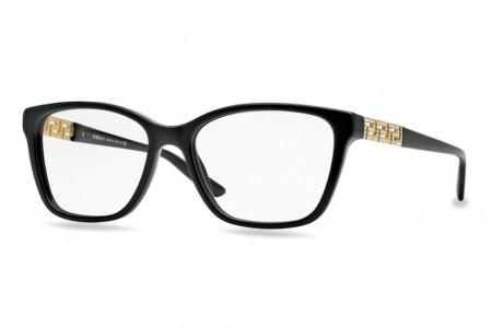 Lunettes de vue Versace VE 3192B-GB1 54mm Black - Gweleo c929c7e2fbb1
