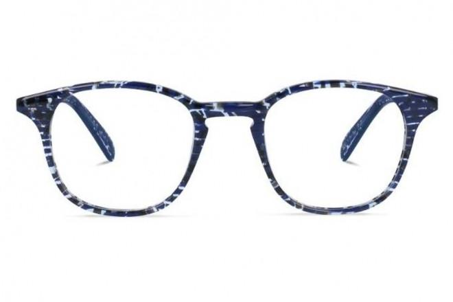 Lunettes de vue Jeack and Francis Glendale 46mm Blackish Blue - vue de face