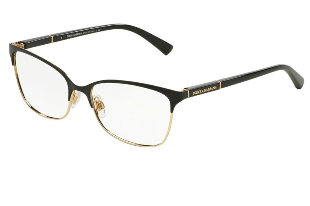7cc14ef2de Lunettes de vue Dolce Gabbana DG 1268-025 54mm Black/Gold - Gweleo