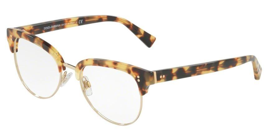Lunettes de vue Dolce Gabbana DG 3270-512 52mm Light Havana Pale Gold fc969d4b1560