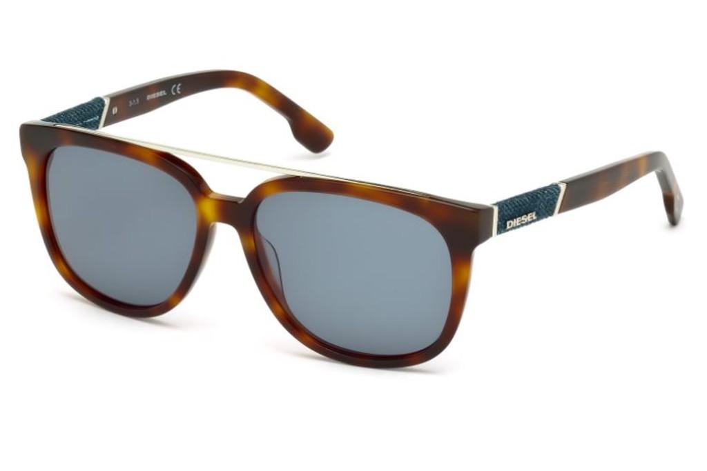 ed3f52e6b4 Lunettes de soleil Diesel DL 0166-53V 56mm Blonde Havana/Blue - Gweleo