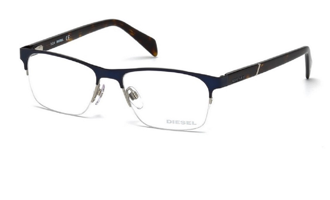 lunettes de vue diesel dl 5174 092 54mm bleu gweleo. Black Bedroom Furniture Sets. Home Design Ideas