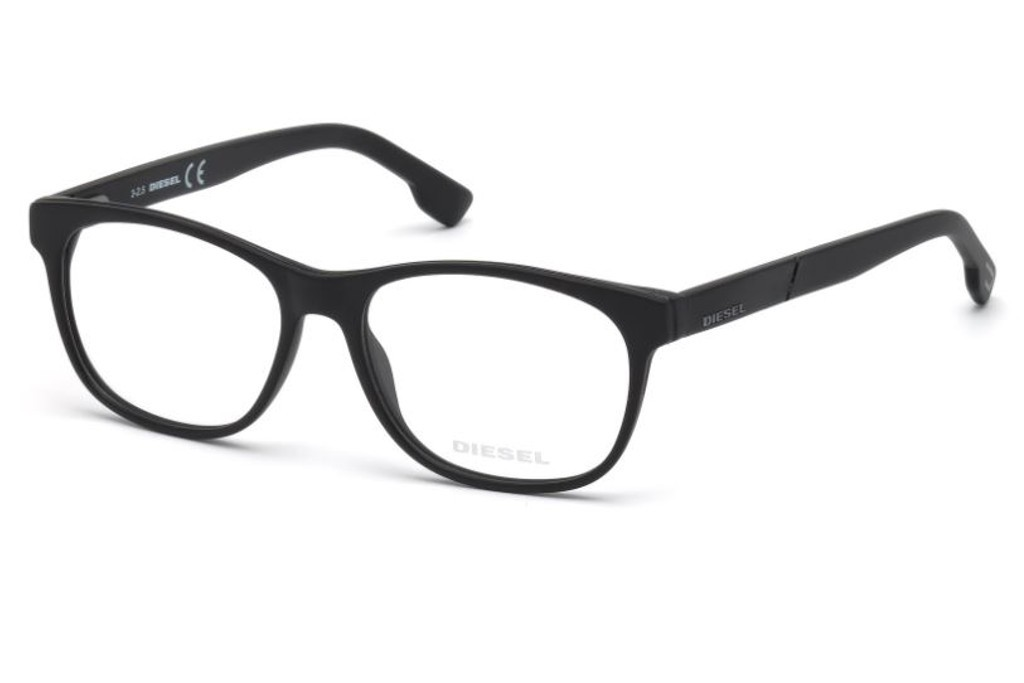 lunettes de vue diesel dl5198 002 52mm matte black gweleo. Black Bedroom Furniture Sets. Home Design Ideas