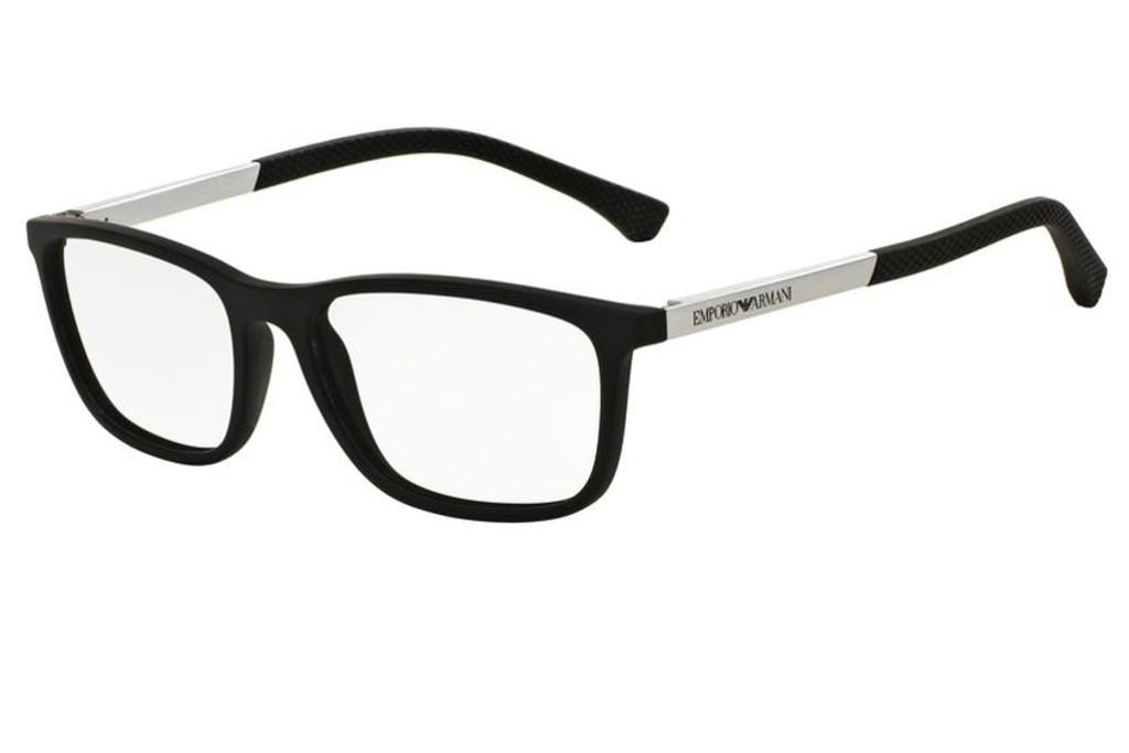 bae76ecd6e6 Lunettes de vue Emporio Armani EA 3069-5063 53mm Black Rubber - Gweleo