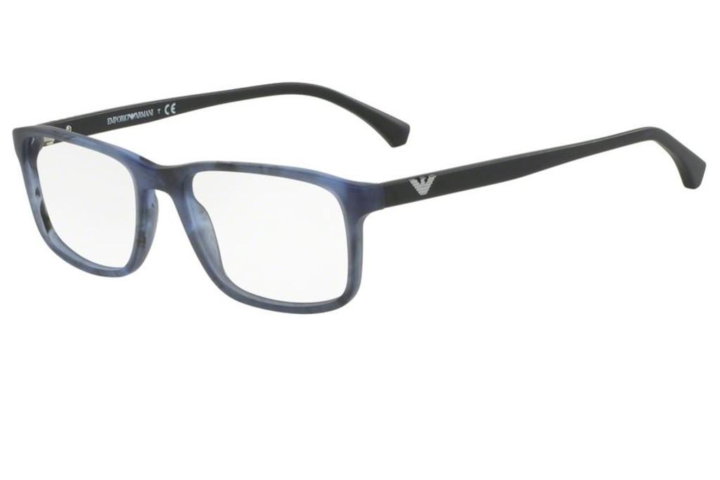 Lunettes de vue Emporio Armani EA 3098-5549 53mm Matte Striped Blue - 16573781e3e3