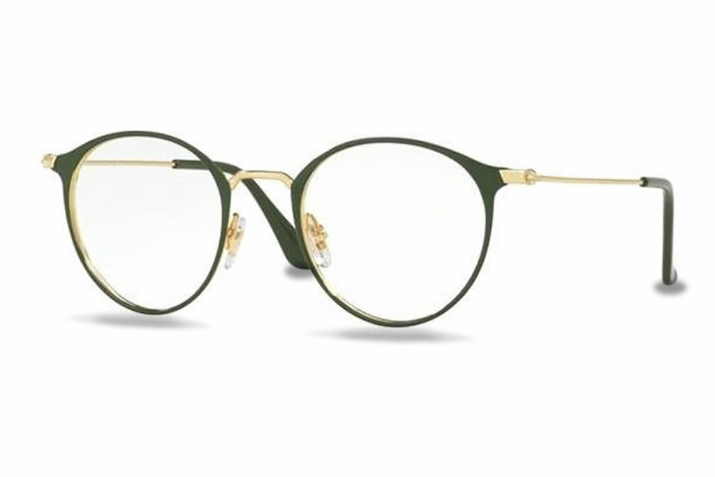 522adb2f0edaed Lunettes de vue Ray-Ban RX6378 Small-2908 47mm Gold Green - Gweleo