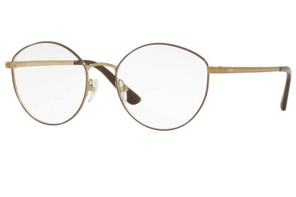 014a4b07b971d3 Lunettes de vue Vogue VO 4025 Large-5021 53mm Brown Pale Gold - Gweleo