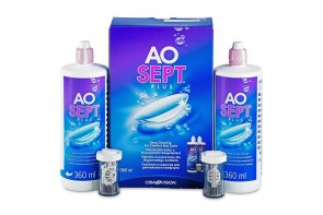 Produits d'entretien pour lentilles de contact Aosept Plus - 2 flacons de 360ml