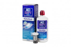 Produits d'entretien pour lentilles de contact Aosept Plus Hydraglyde - Flacon de 360ml