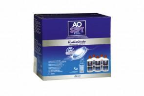 Produits d'entretien pour lentilles de contact Aosept Plus Hydraglyde - 3 flacons de 360ml + 90ml
