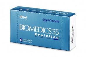 Verres de contact Biomedics 55 Evolution 6l