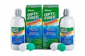 Produits d'entretien pour lentilles de contact Opti-Free Replenish - 2 flacons de 300ml