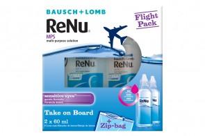 Produits d'entretien pour lentilles de contact Renu MPS Flight Pack - 2 flacons de 60ml