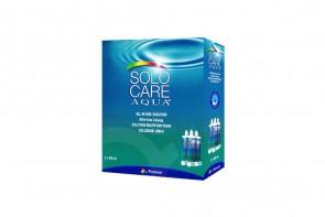 Produits d'entretien pour lentilles de contact Solo Care Aqua - 3 flacons de 360ml