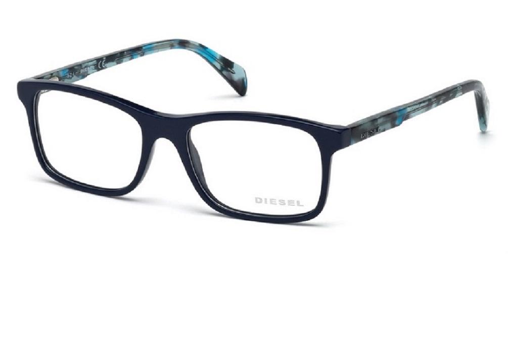 9d0f6182de3d2 Lunettes de vue Diesel DL 5170-090 53mm Bleu brillant - Gweleo