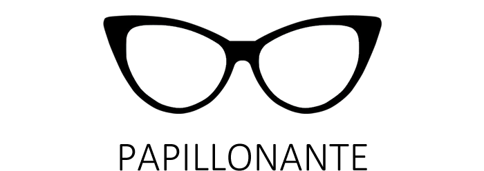Lunettes de vue papillonantes