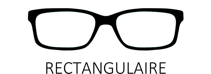 Lunettes de vue rectangulaire