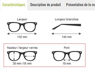 5ace3fd8be Choisir la taille de ses lunettes sur internet